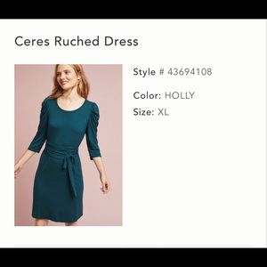 NWOT - Maeve Ceres Ruched Dress (Holly) - XL